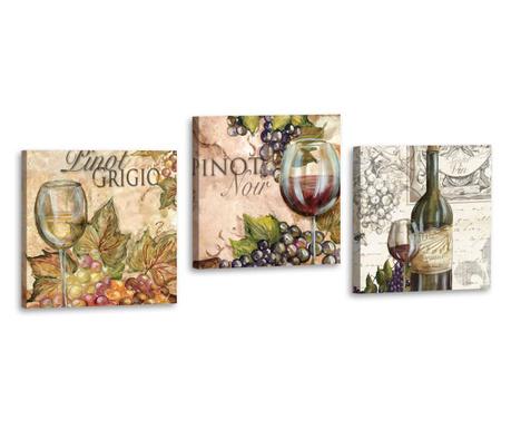 Set 3 slike Pinot Beige 33x33 cm