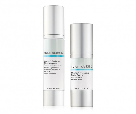 Set serum i obnavljajuća krema za lice Coldtox Pro-Active