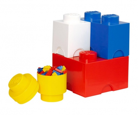 Set 4 cutii cu capac pentru depozitare Lego Mix