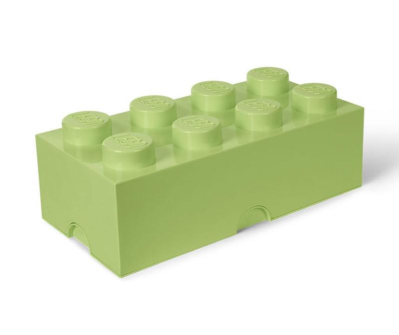 Cutie cu capac Lego Rectangular Extra Yellowish Green