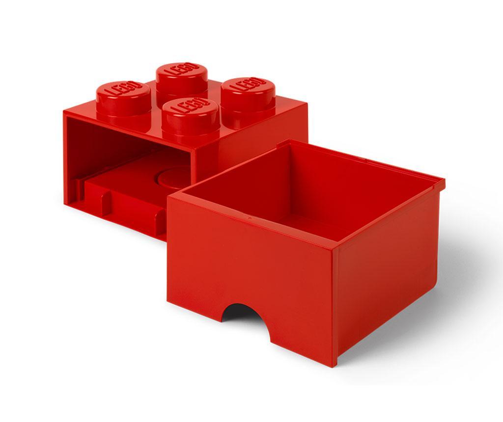 Shranjevalna škatla Lego Square One Red