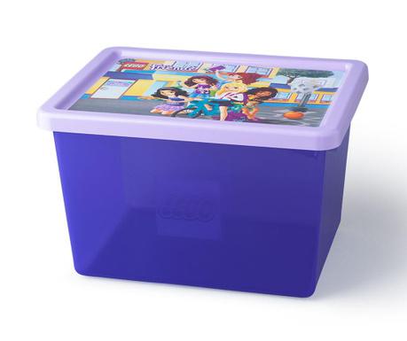 Cutie cu capac pentru depozitare Lego Friends 18 L
