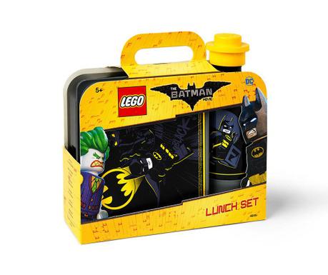 Set cutie pentru pranz si sticla cu capac Lego Batman