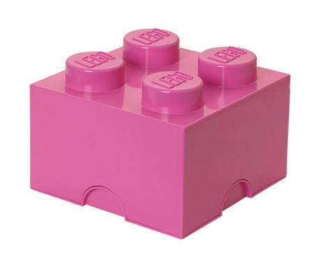 Kutija za pohranu s poklopcem Lego Square Four Purple