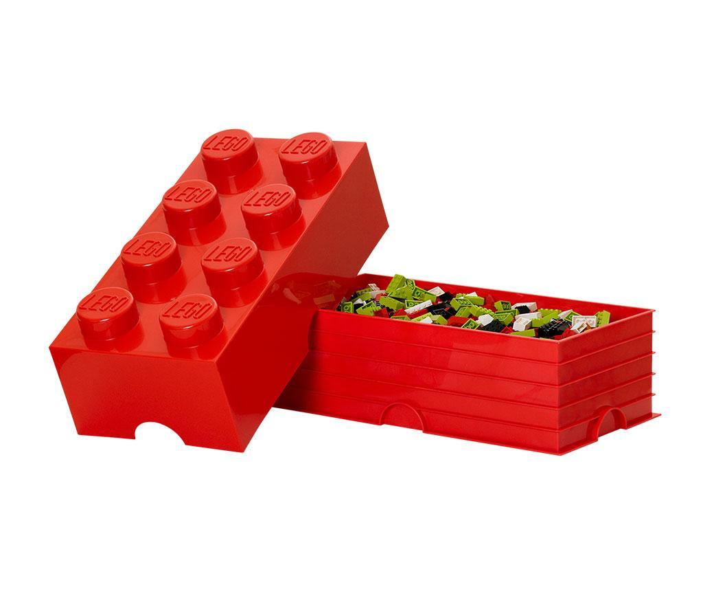Cutie cu capac Lego Rectangular Extra Red