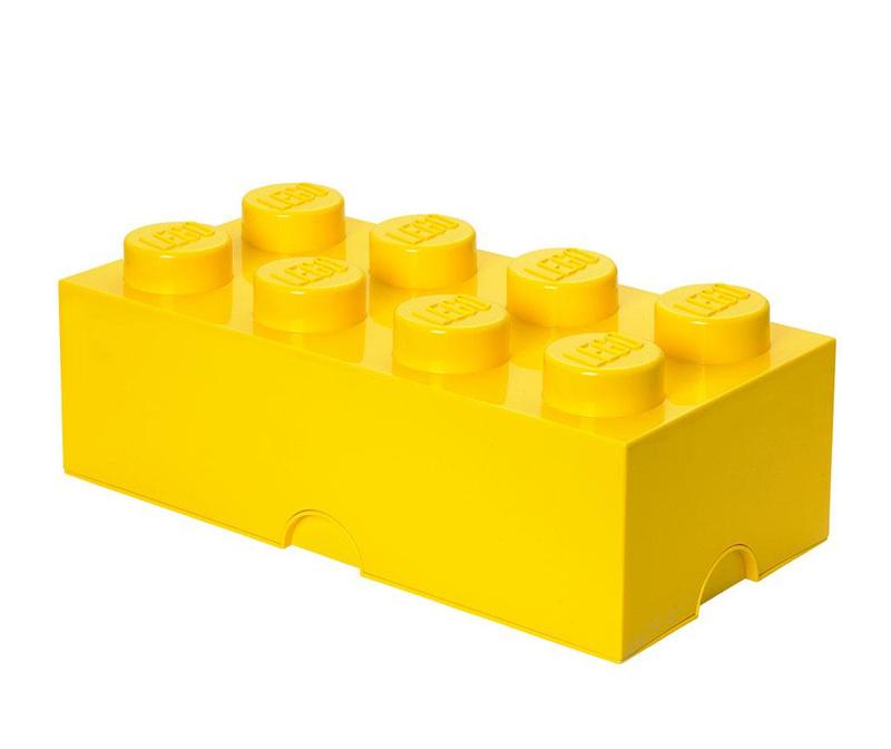 Cutie cu capac Lego Rectangular Extra Yellow