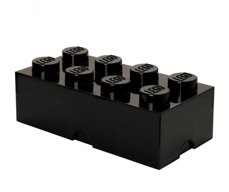 Кутия с капак Lego Rectangular Extra Black