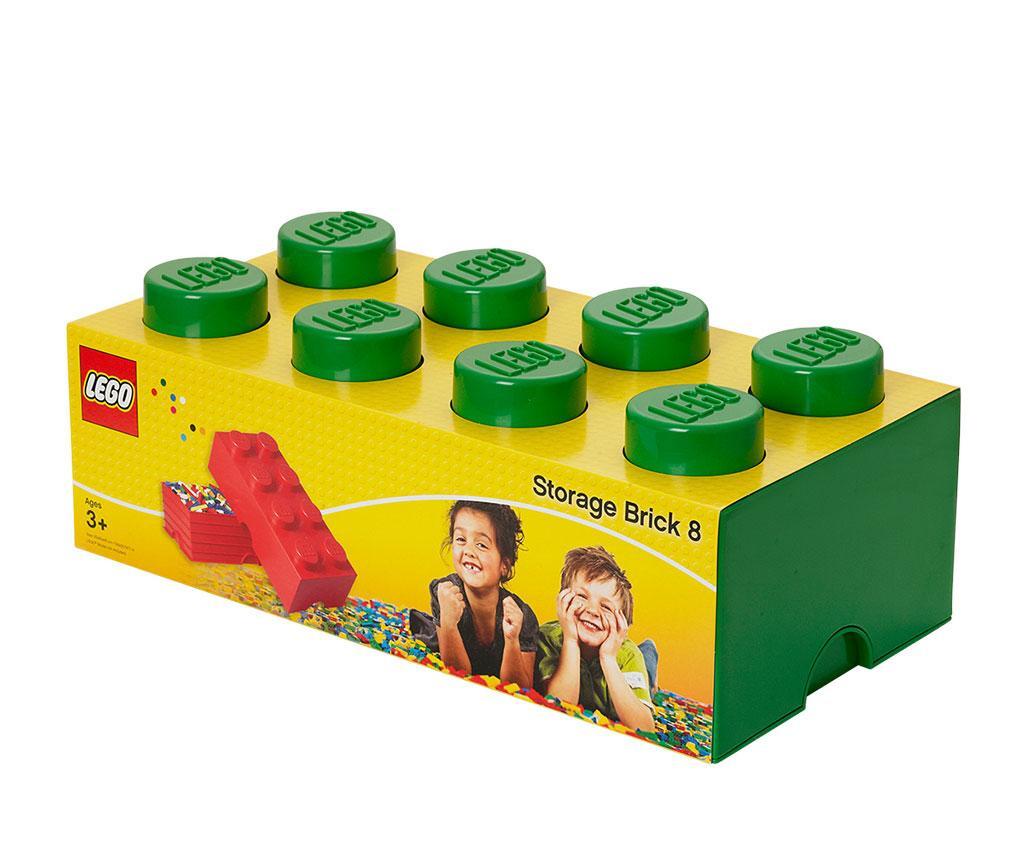 Cutie cu capac Lego Rectangular Extra Dark Green