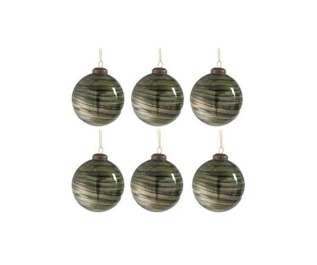 Комплект 6 декоративни топки Dark Beauty