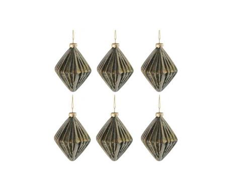 Комплект 6 декоративни топки Diamond Shaped