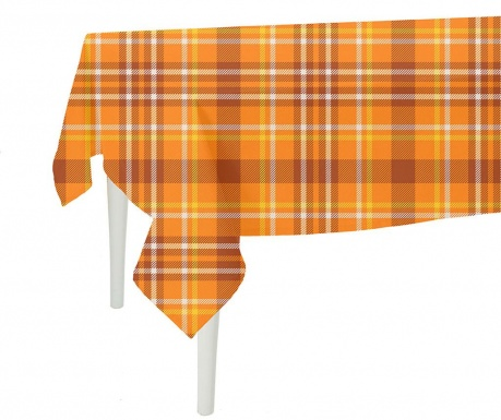 Ubrus Orange Checks Plaid