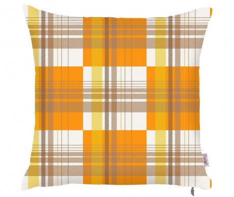 Prevleka za blazino Orange Checks 43x43 cm