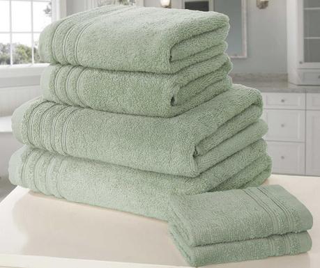 So Soft Green 6 db Fürdőszobai törölköző