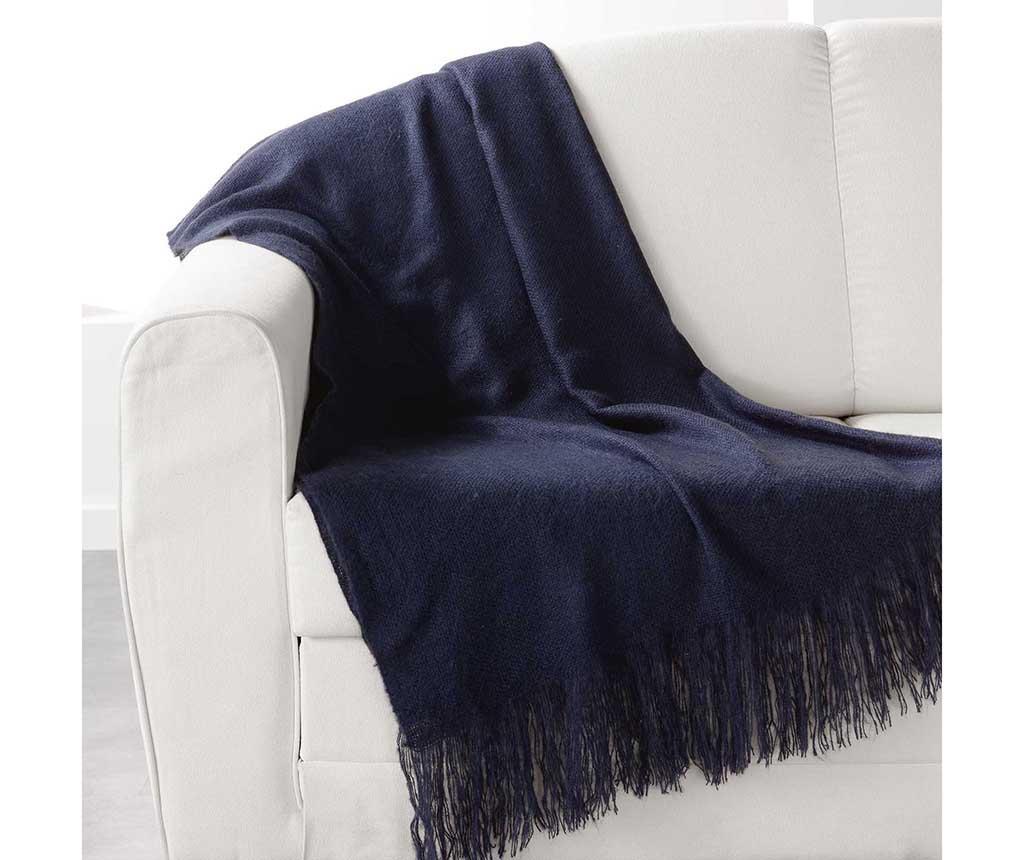 Pled Shelly Dark Blue 120x150 cm