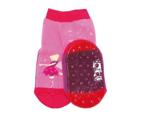 Чорапи с нехлъзгаща се подметка Fee Pink