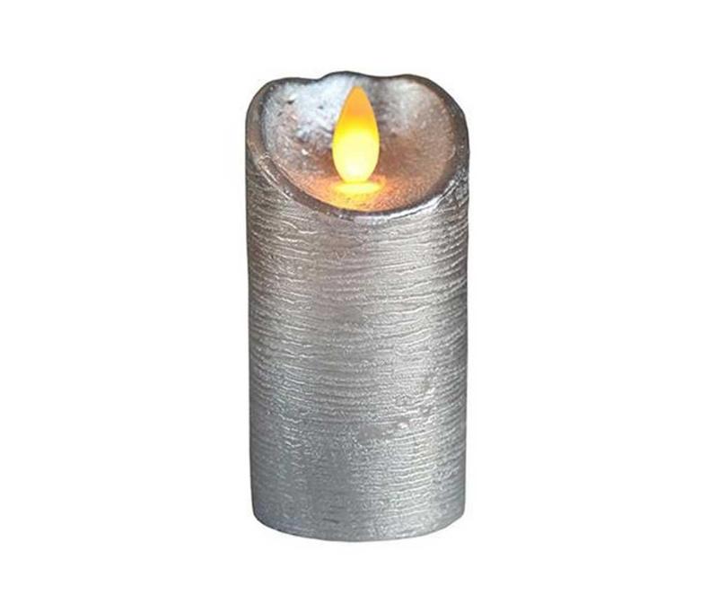 Lumanare cu LED Glow Silver
