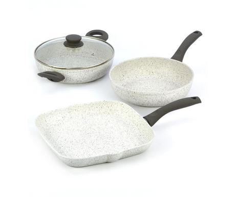 Комплект съдове за готвене 4 части Stonewhite Gray