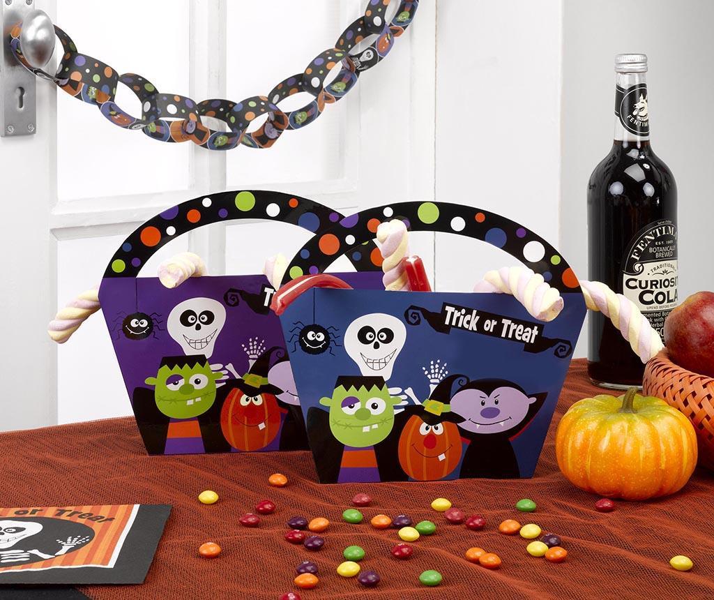 Sada 4 košíků na sladkosti Trick or Treat