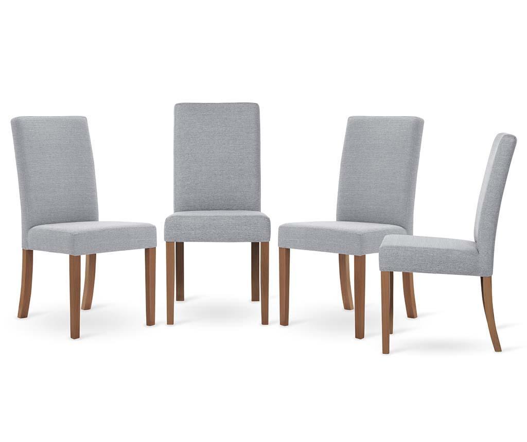 Set 4 scaune Tonka Brown Grey