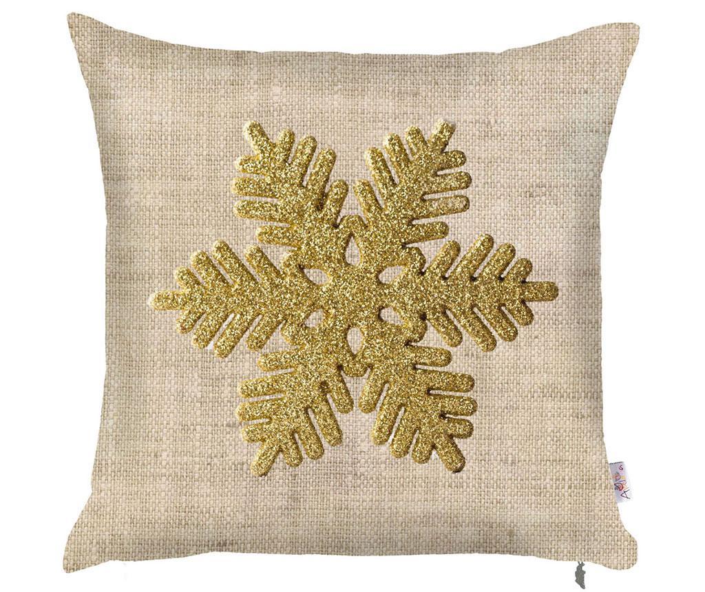 Fata de perna Snowflake Natural 43x43 cm