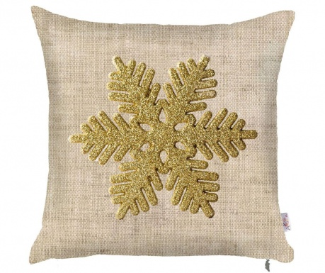 Калъфка за възглавница Snowflake Natural 43x43 см