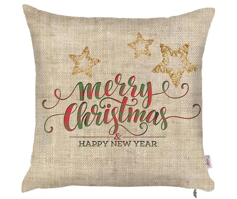 Jastučnica Merry Christmas Natural 43x43 cm