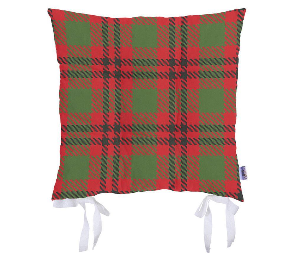 Jastuk za sjedalo Check Red Green 37x37 cm