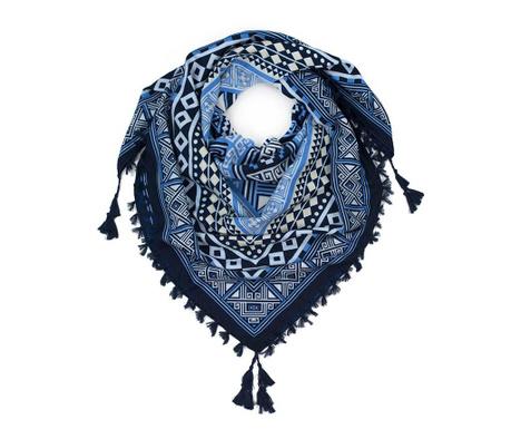 Aztek Blue Sál 115x115 cm