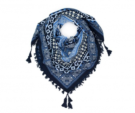 Esarfa Aztek Blue 115x115 cm