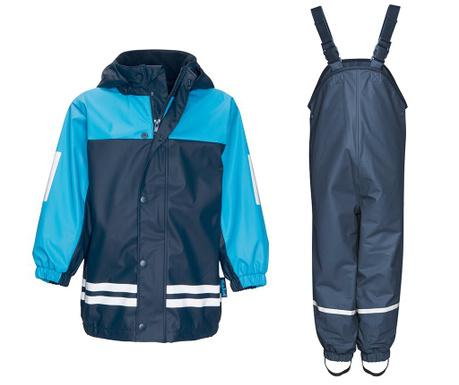 Dětská sada nepromokavá bunda a overal Duo Colors Navy Light Blue