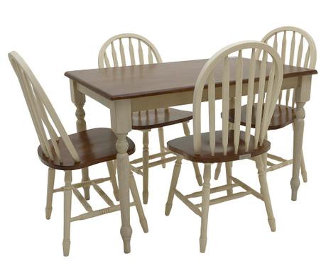 Zestaw stół i 4 krzesła Fine Contrast