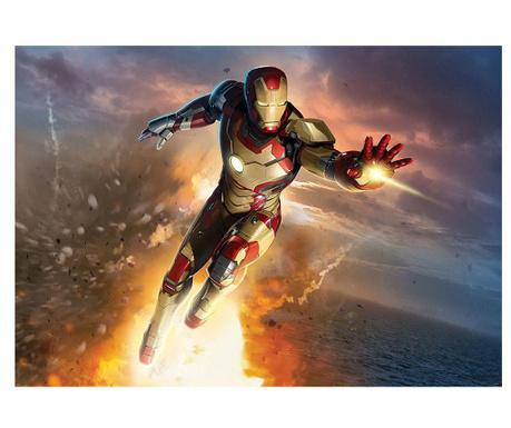 Iron Man Explosion Tapéta 184x254 cm