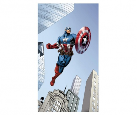 Závěs Captain America in Action 140x245 cm