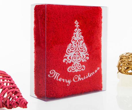 Prosop de baie Christmas Tree Red 30x50 cm