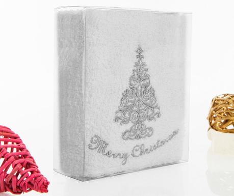 Prosop de baie Silver Christmas 30x50 cm