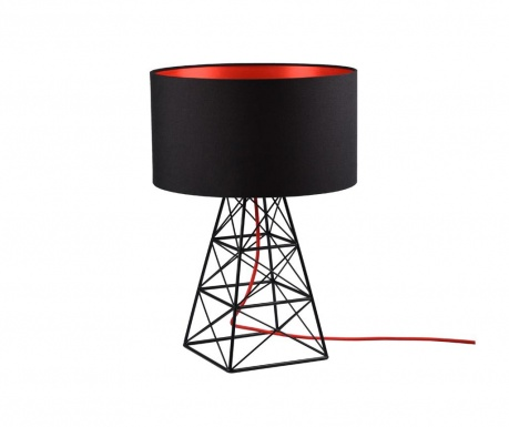 Veioza Pylon Black Red