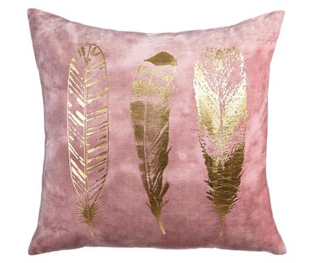Okrasna blazina Feathers Pink Gold 60x60 cm