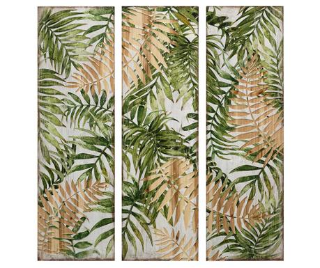 Zestaw 3 obrazów Botanical 30x100 cm