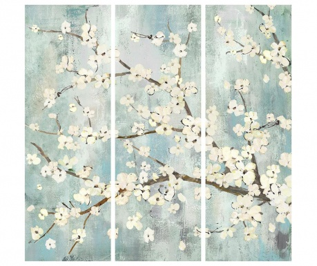 Set 3 tablouri Branch Bloom 30x90 cm