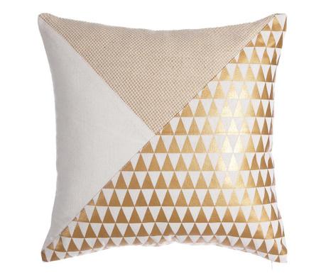 Perna decorativa Lines Diamonds White Gold 30x45 cm