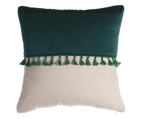 Dekorační polštář Lorraine White Green 45x45 cm