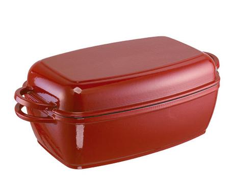 Naczynie do pieczenia z pokrywą Rustika Red 5 L