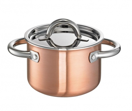 Oala cu capac De Luxe Copper 2 L