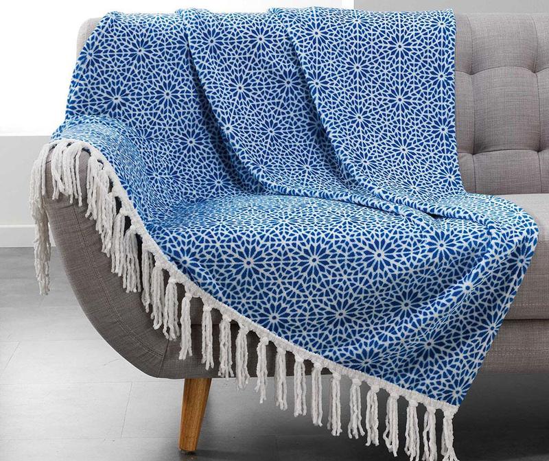 Priročna odeja Tunis Blue 125x150 cm