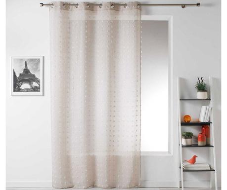 Záclona Pompom Beige 140x240 cm