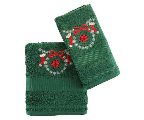 Set 2 kopalniških brisač Poinsettia Green