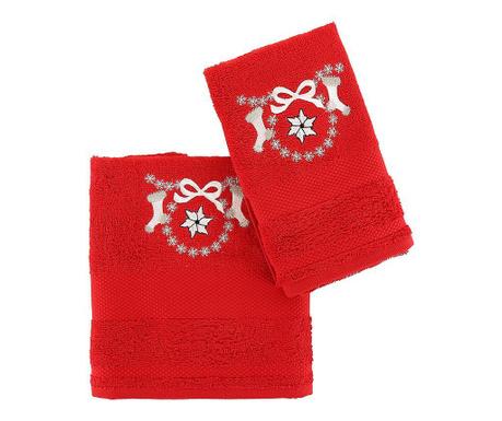 Set 2 kopalniških brisač Poinsettia Red
