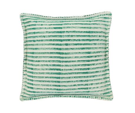 Poduszka dekoracyjna Lines Green White 50x50 cm