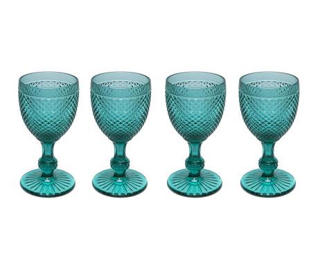 Set 4 kozarcev za vino Gaia Emerald Green