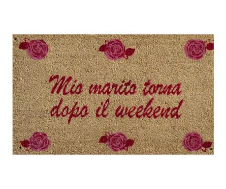 Mio Marito Torna Dopo Week End Bejárati szőnyeg 45x75 cm
